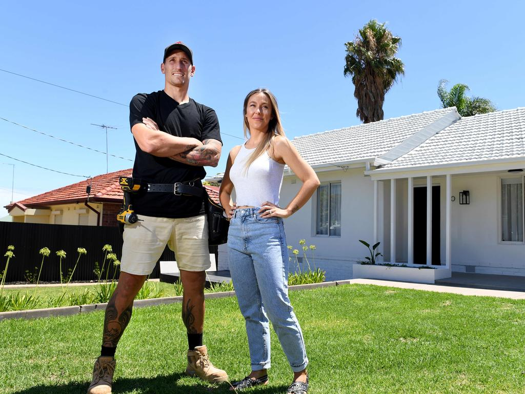 Adelaide residents Jodie and Jesse White have had success house flipping in the current market. Picture: Tricia Watkinson