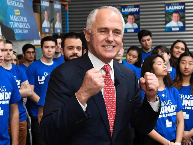 He did it his way. But was it the best way? Malcolm Turnbull at a campaign event in Sydney. Picture: William West