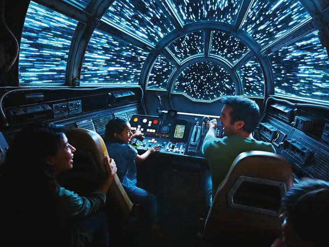 """One of the most anticipated rides is set to be the action-packed Millennium Falcon: Smugglers Run, where riders climb into the cockpit of """"the fastest hunk of junk in the galaxy"""" for their own Star Wars adventure."""
