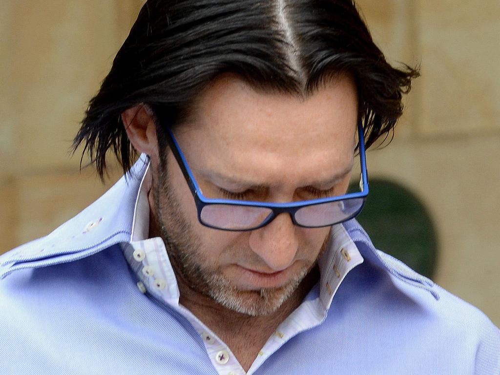 Kym Anthony Sweet, director of Kinky & Sweet Pty Ltd, at the Adelaide Magistrates Court where he stands accused of selling illegal erection pills.