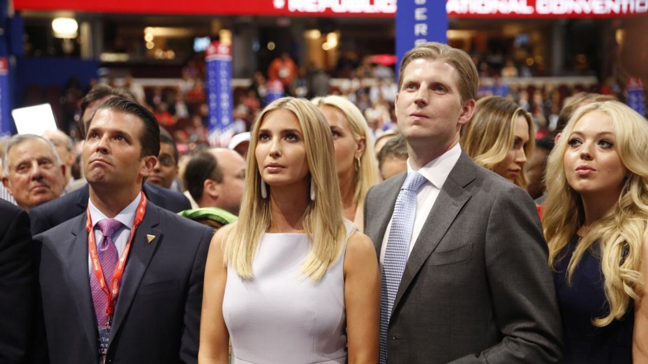 Don Jr, Ivanka, Eric and Tiffany Trump in 2016. Picture: Brian van der Brug/LA Times via Getty Images