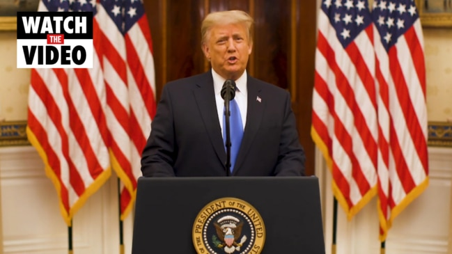 Trump 'prays for the success' of Biden's administration in farewell address