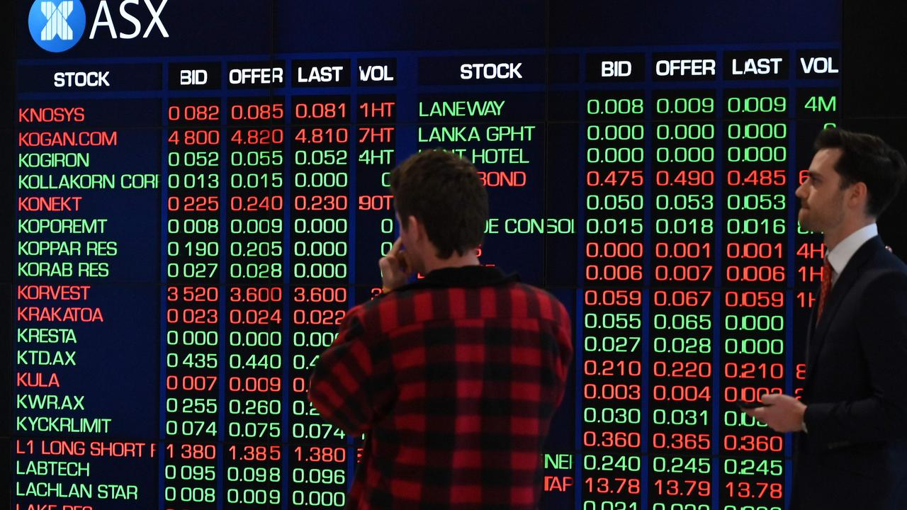 The Australian stock market lost $86 billion on Tuesday. Picture: Saeed Khan/AFP