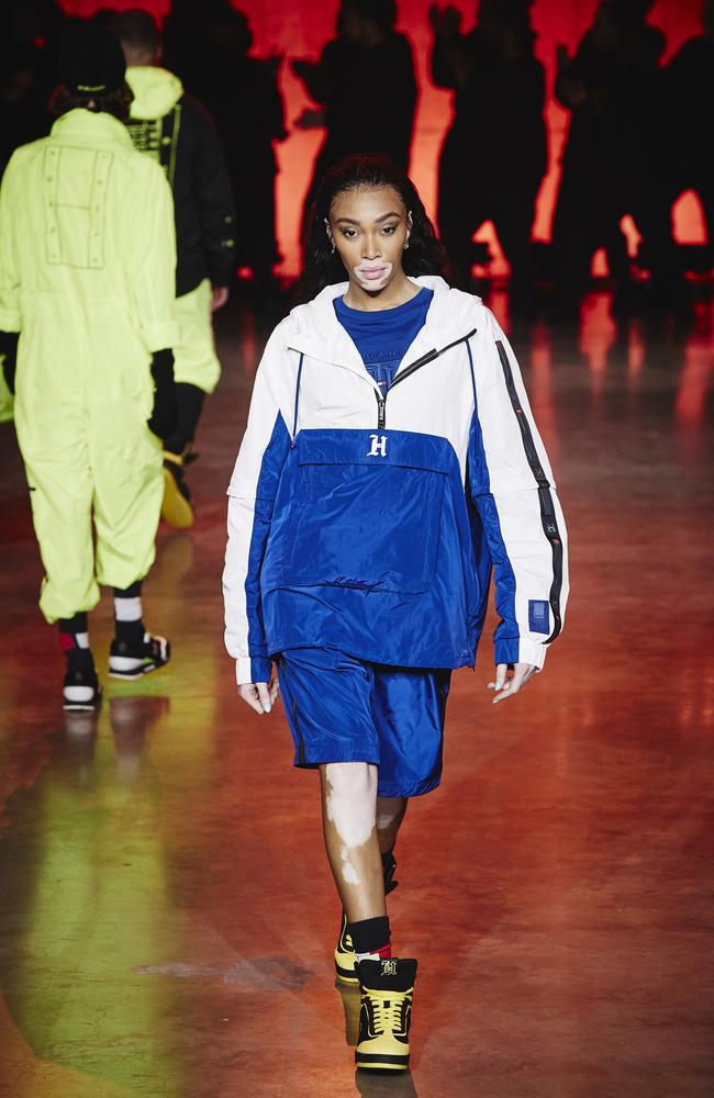 Lewis Hamilton's latest collection with Tommy Hilfiger was designed to be worn by everyone. Picture: Getty Images for Tommy Hilfiger
