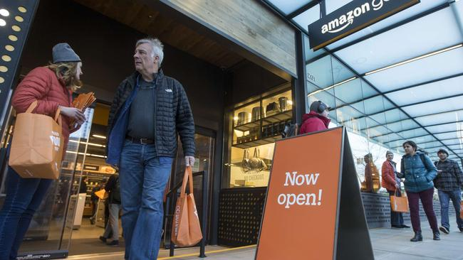 After more than a year in beta, Amazon opened the cashier-less store to the public. Picture: Stephen Brashear/Getty Images/AFP