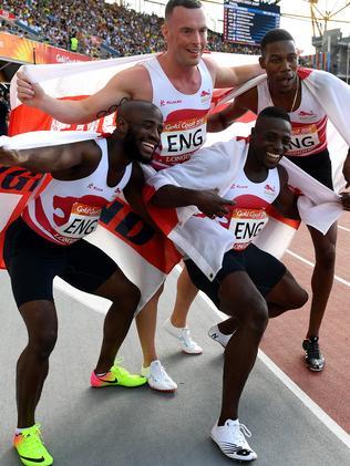 The England men's quarter were also victorious. Picture: AAP Image/Dean Lewins