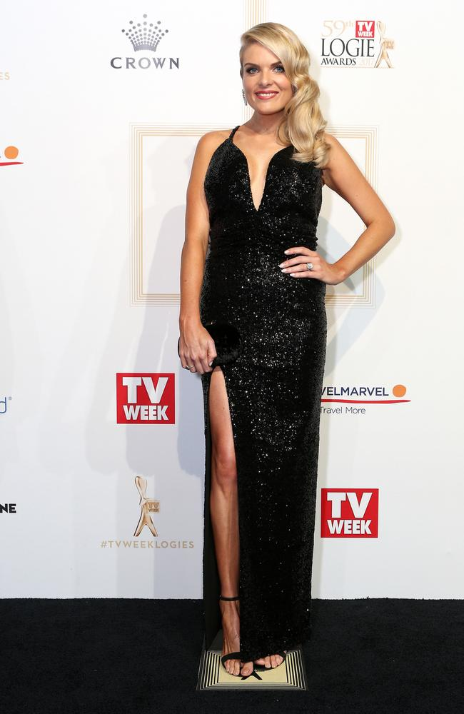 Erin Molan arrives for the big night. Picture: Julie Kiriacoudis