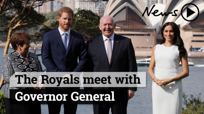 Royal Tour: Harry and Meghan meet the Governor General at Admiralty House