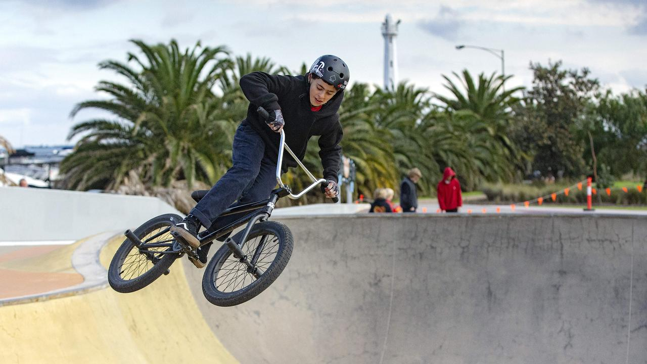Skate parks have been closed in Melbourne and the Mitchell Shire. Picture: Sarah Matray