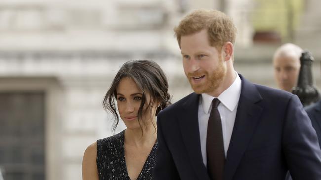Prince Harry and his fiancee Meghan Markle in April, 2018. Photo: AP/Matt Dunham