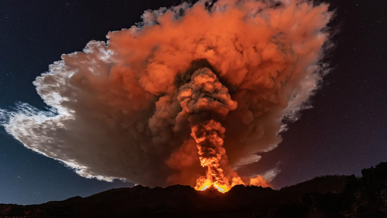 Etna Volcano Eruption