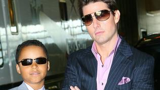 "MAY 3, 2006 : In this photo provided by Paramount Pictures, actor Tom Cruise poses with his son Connor before heading to the Magic Johnson Theatre in the Harlem neighborhood of New York to promote his new film ""Mission Impossible III"", 03/05/06. Crui/Fam Cruise/Actor"