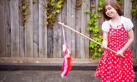 Kids craft: How to make a rainbow windsock