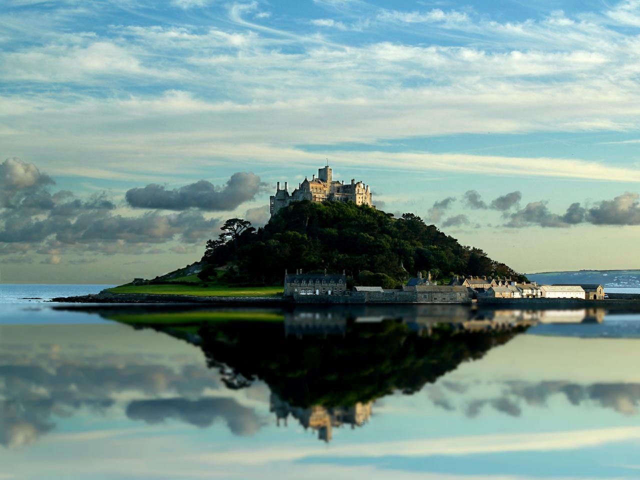 St Michaels Mount Water Reflection