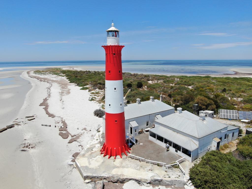 The distinctive Troubridge Island Lighthouse. Pictures: Vertigo High Access Specialists