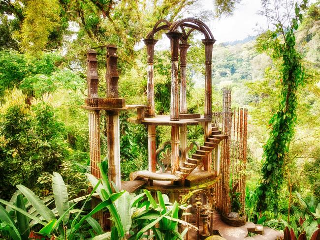 13/15Staircase to Heaven, Mexico In 1947, poet Sir Edward James acquired a coffee plantation. He spent the rest of his days creating his surrealist garden, Las Poza, which includes more than 32 hectares of natural waterfalls, pools and jawdropping surrealist art, like the Staircase to Heaven. Picture: AlamyLOCATION:  Las Pozas, Barrio La Conchita, Mexico