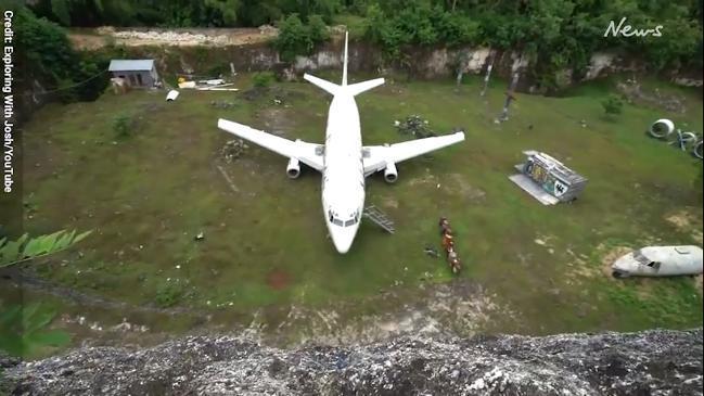 Abandoned plane in Bali