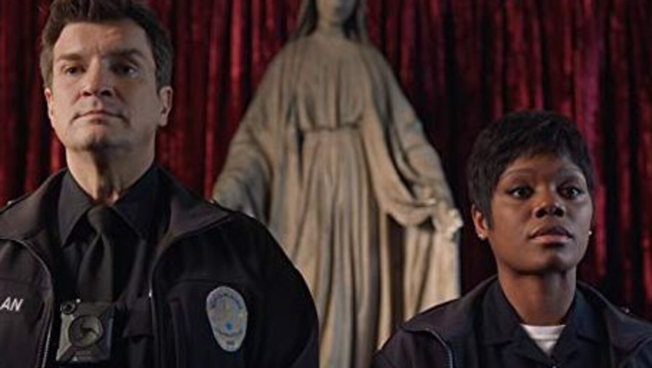 The Rookie stars Nathan Fillion and Afton Williamson.