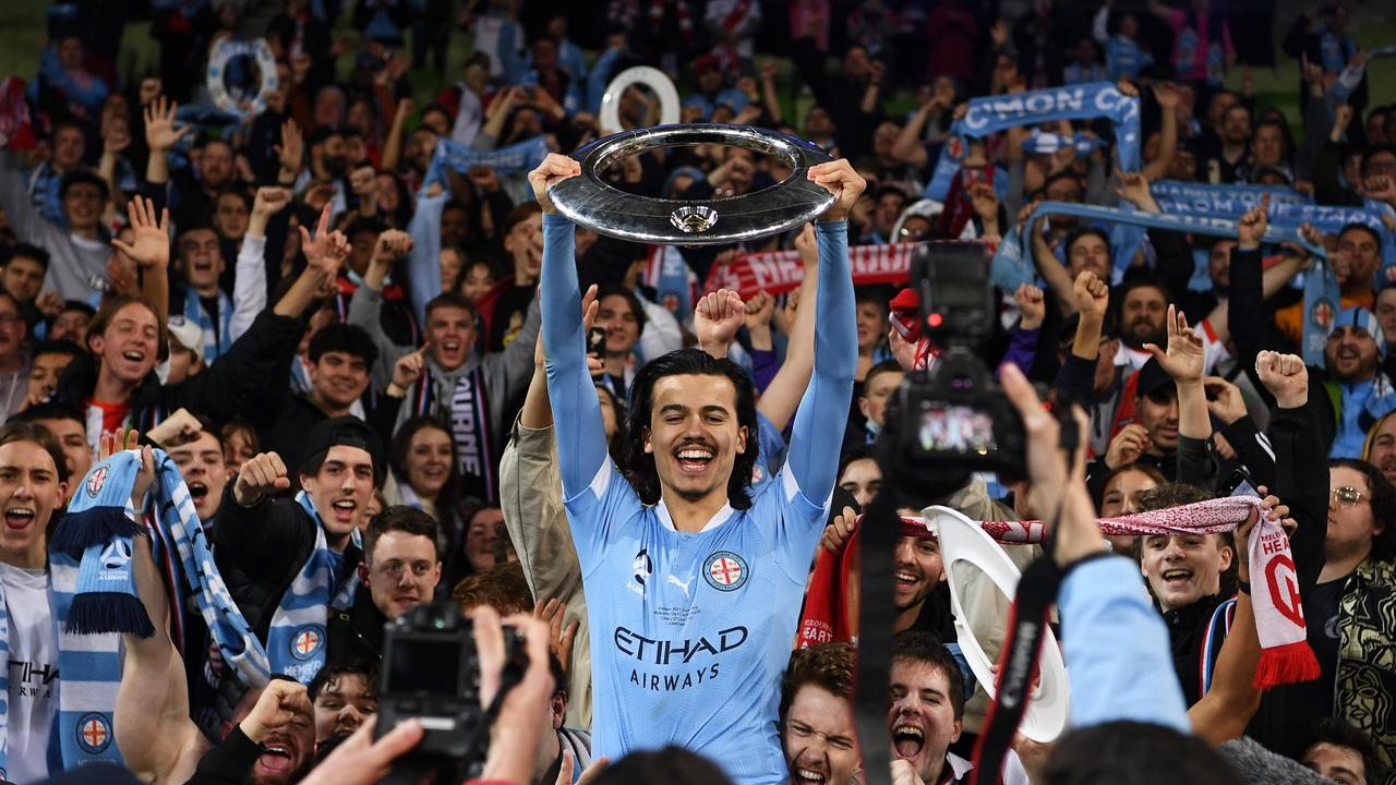 Melbourne City emerged triumphant at the end of a stunning A-League campaign. (Photo by Quinn Rooney/Getty Images)