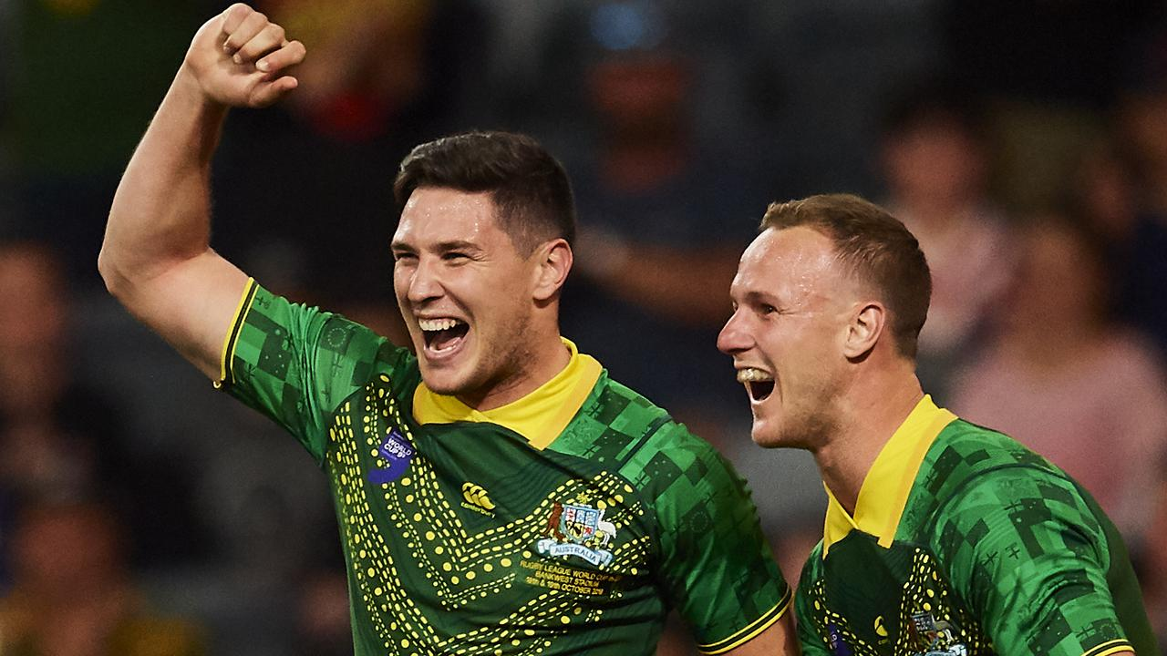 Mitchell Moses bags hat-trick as Kangaroos claim inaugural World Cup Nines title