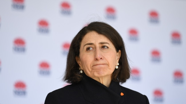 NSW Premier Gladys Berejiklian, seen on Tuesday, has hinted at the magic number needed to free Greater Sydney from coronavirus lockdown. Photo: James D. Morgan/Getty Images