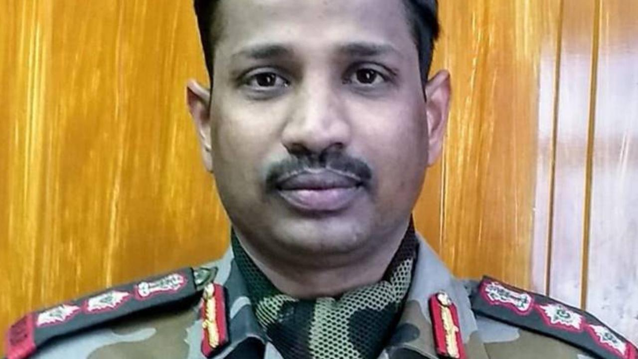 Colonel B Santosh Babu was killed during the India China border dispute. Picture: Indian Express