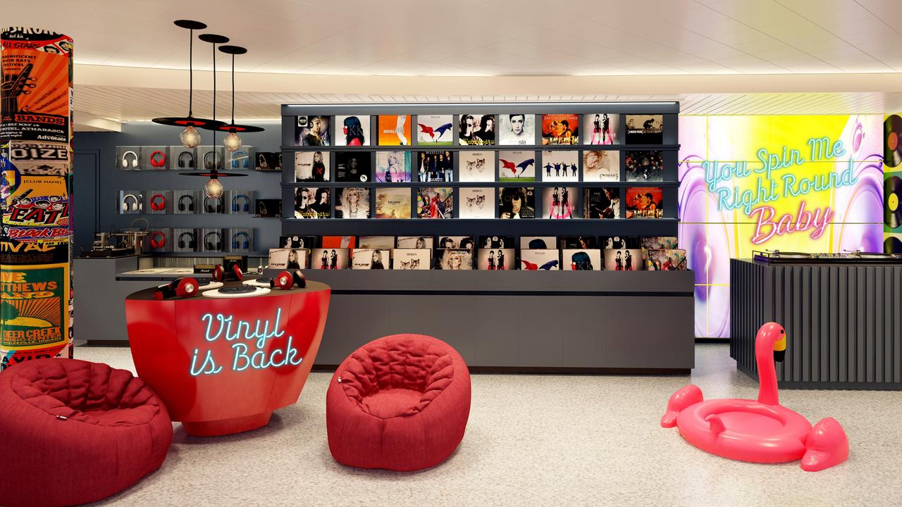 Yes, it's a vinyl record shop on a Virgin cruise.