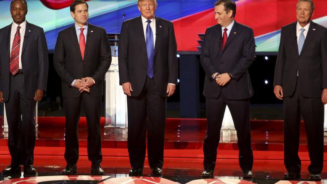 That's Kasich on the right. Yeah, we don't really remember him either.