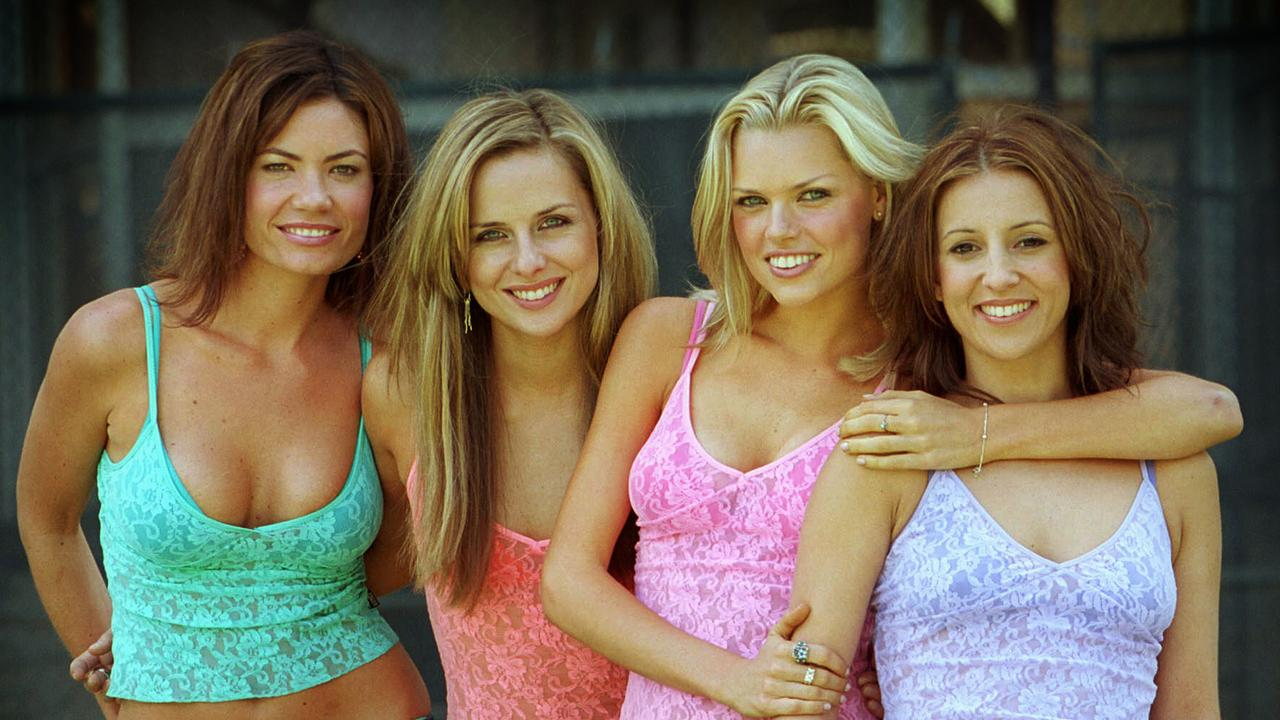 Bardot as a four-piece shortly before their split, L-R: Tiffani Wood, Belinda Chapple, Sophie Monk and Sally Polihronas. Picture: David Caird