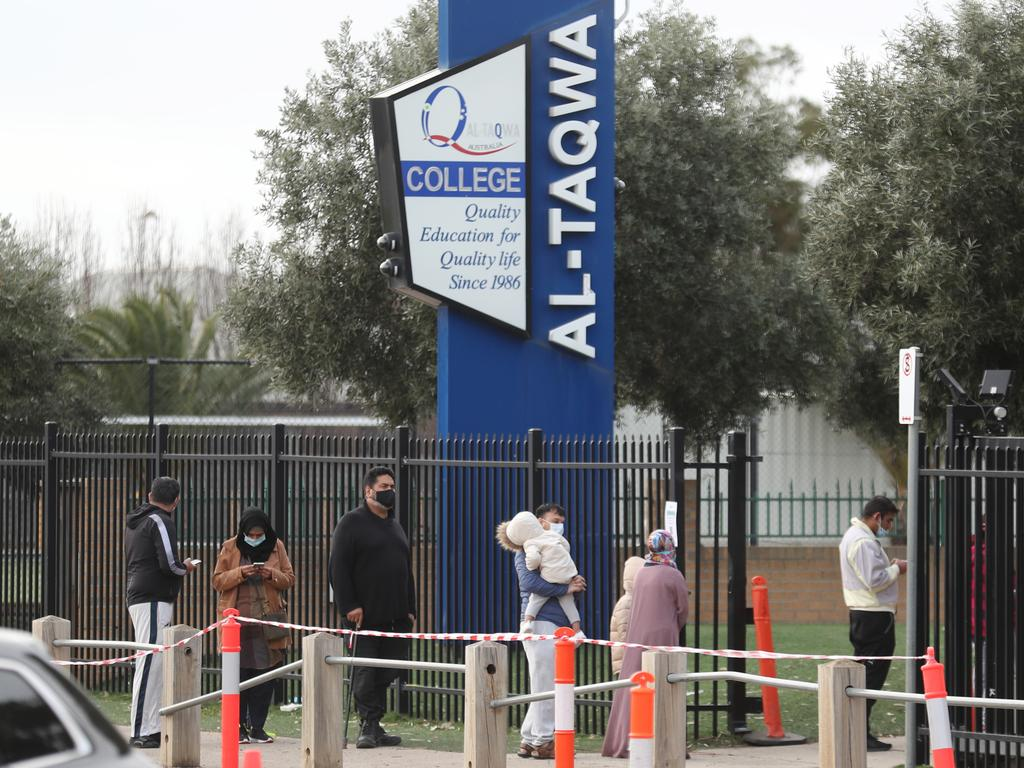 Close contacts, like those at Al-Taqwa College in Truganina, are eligible for a $1500 isolation payment. Picture: NCA NewsWire / David Crosling