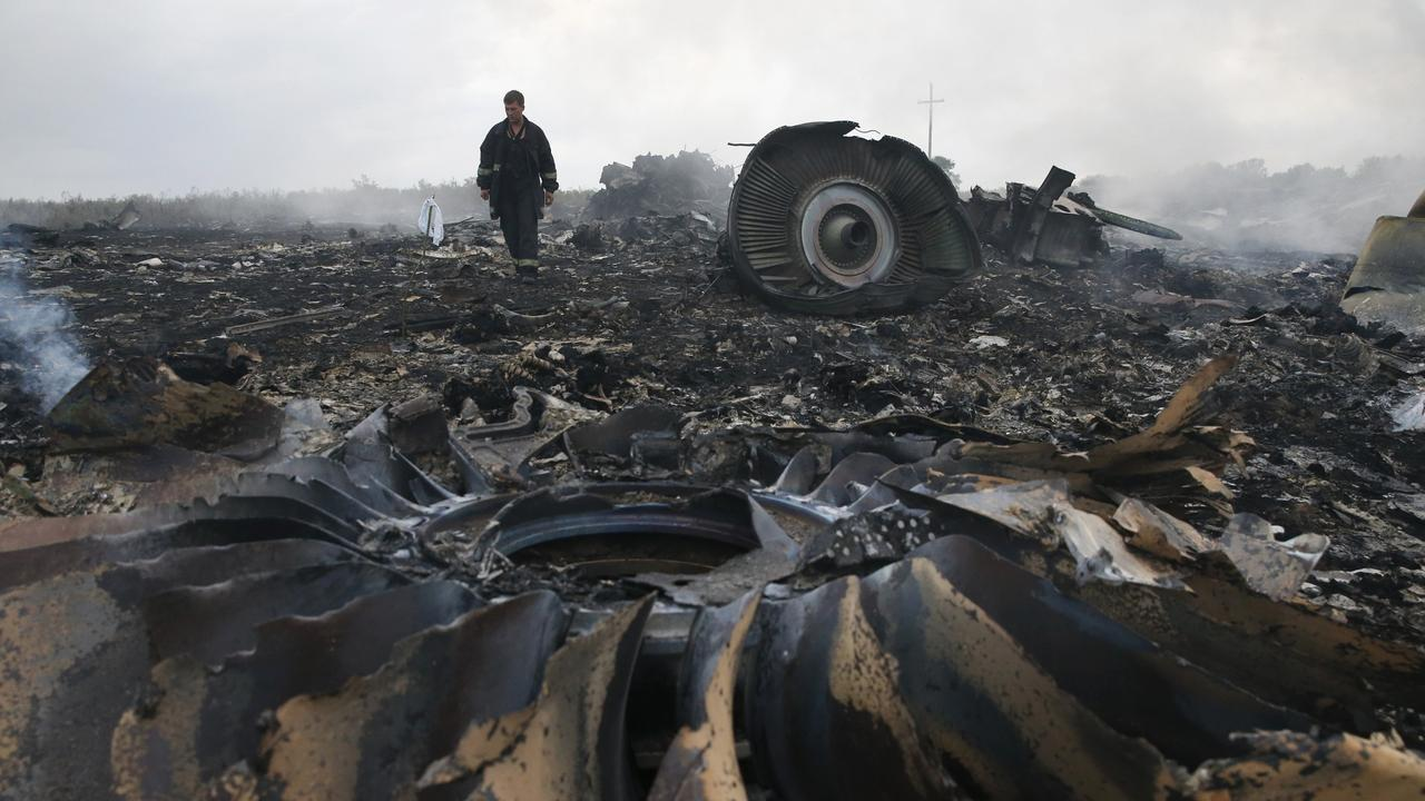 The wreckage of MH17 after being shot down over Ukraine. Picture: Maxim Zmeyev/Reuters