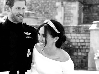 Harry and Meghan have released new photos, including this one of their wedding. Source: Instagram