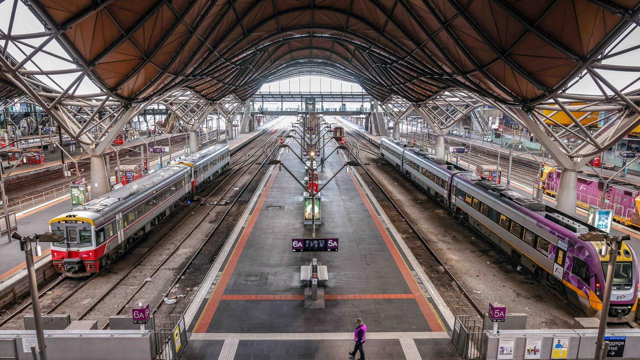 Southern Cross Station has been almost empty during the lockdown. Picture: Ian Currie