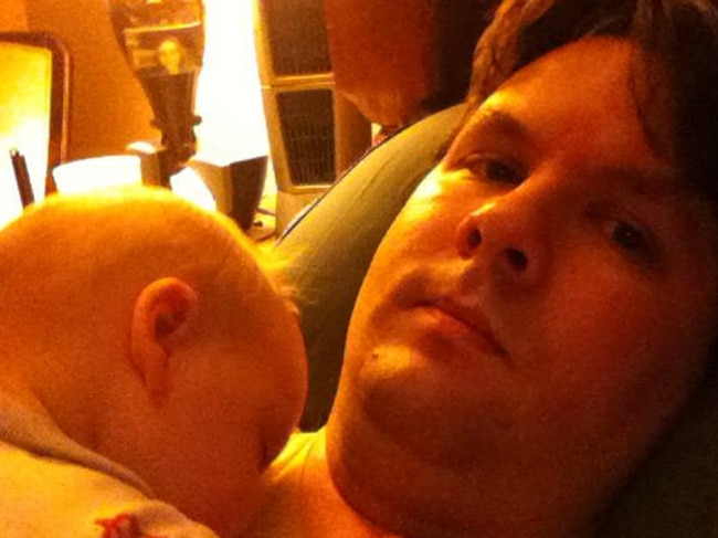 Harris's friends told media that he 'adored' his only child, pictured here just a few months old. Picture: Facebook