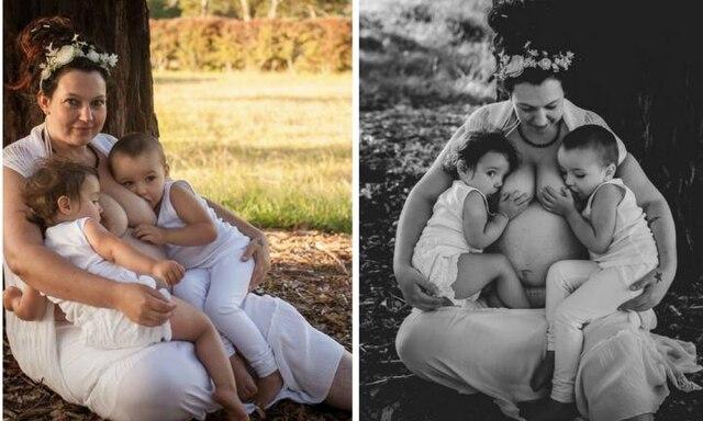 Tandem feeding three siblings: 'They'll wean when they're ready'