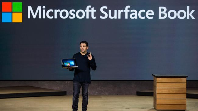 New book, new page ... a new laptop titled the Microsoft Surface Book. Picture: Andrew Burton/Getty Images