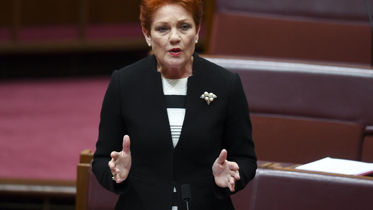 One Nation party leader Pauline Hanson. Picture: AAP