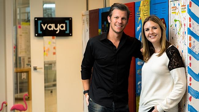 Maik Retzlaff and Jenny Snell, from the Vaya team.