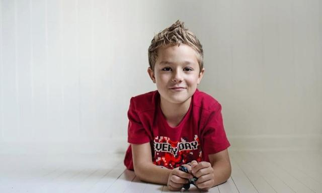 Now Kian has had surgery to remove his tonsils to correct his mouth breathing, he sleeps better and his behaviour is better. Image: Melody Yazdani Photography