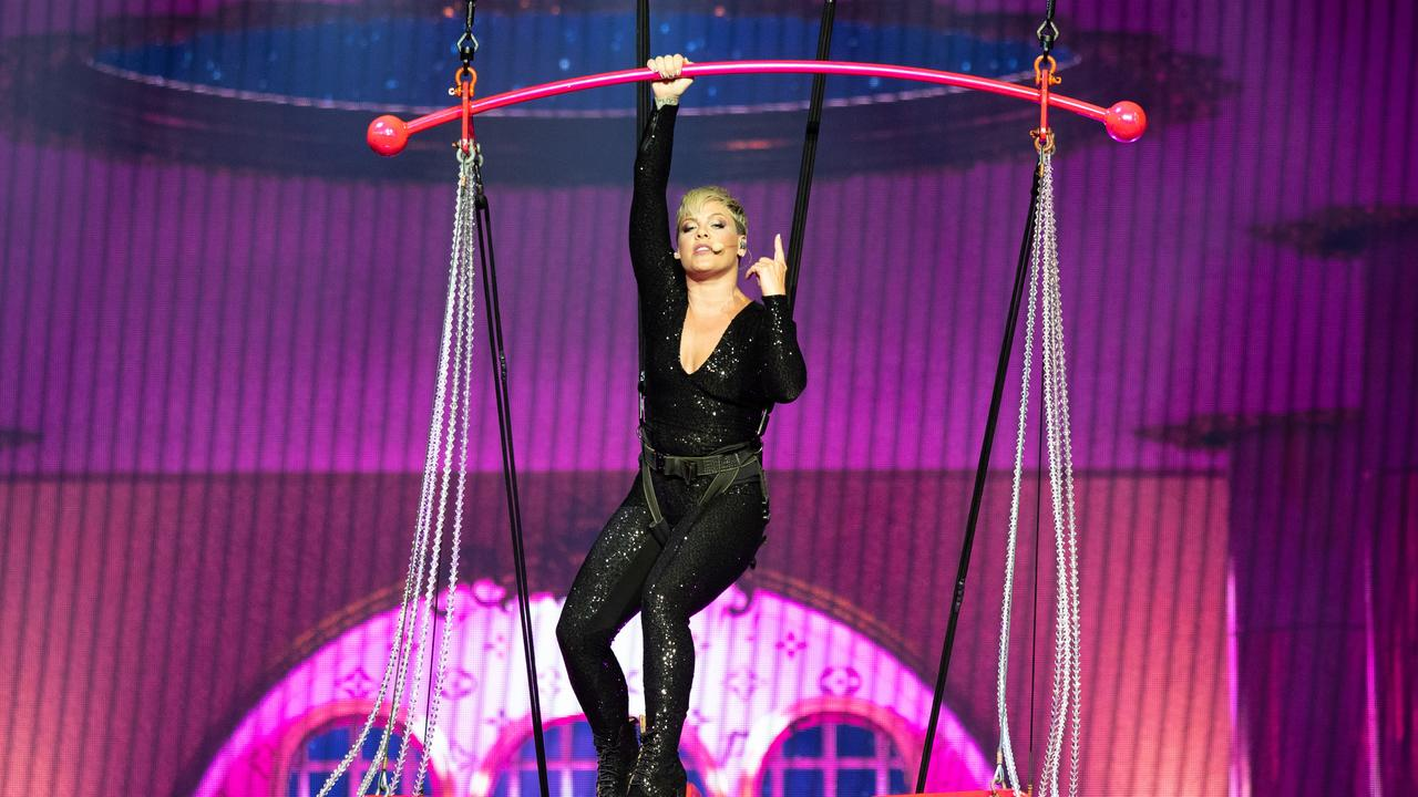 Pink is currently mid way through a 35 date run of shows across Australia.