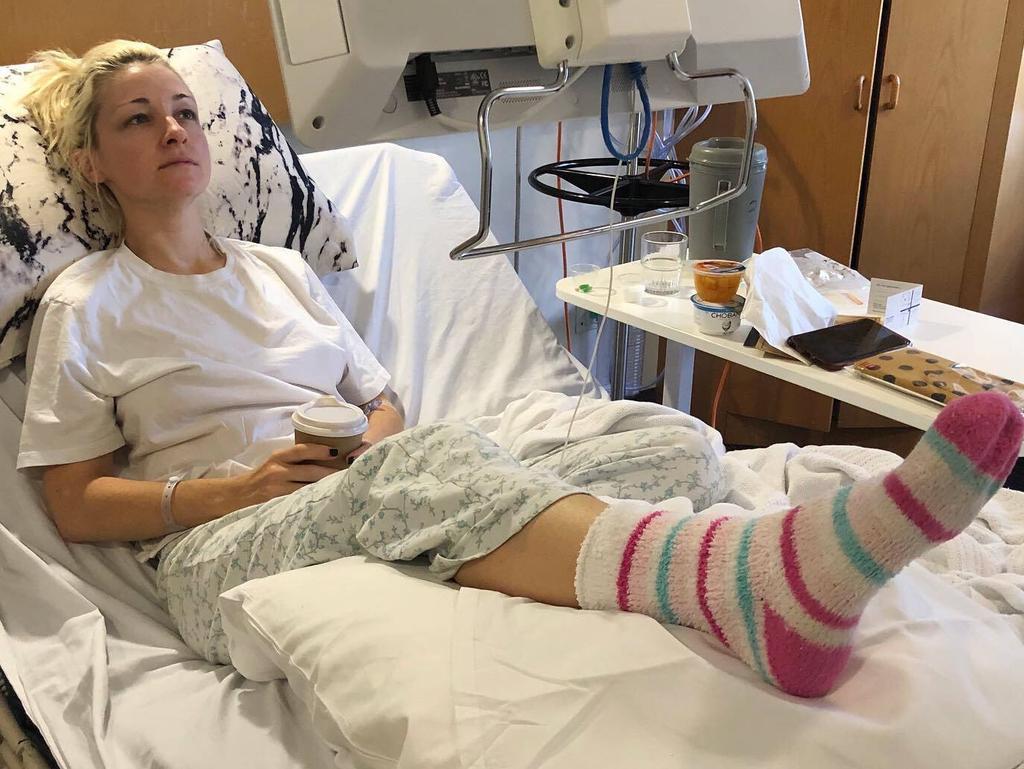 Kate Miller-Heidke spent almost a week in hospital with cellulitis.