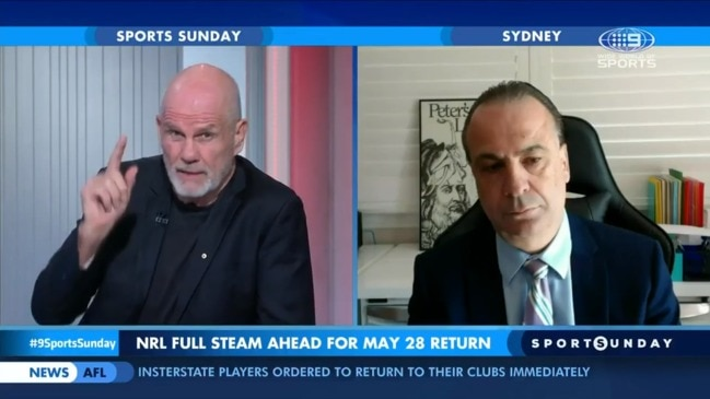 Peter FitzSimons and Peter V'landys clash over NRL return (Sports Sunday)