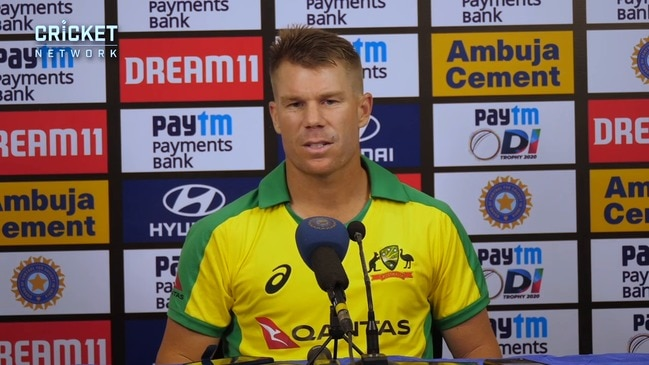 Warner says he loves batting with Finch