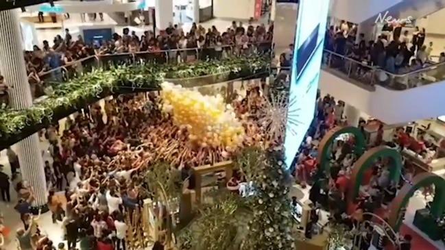 Shoppers injured in promo stunt at Westfield Parramatta