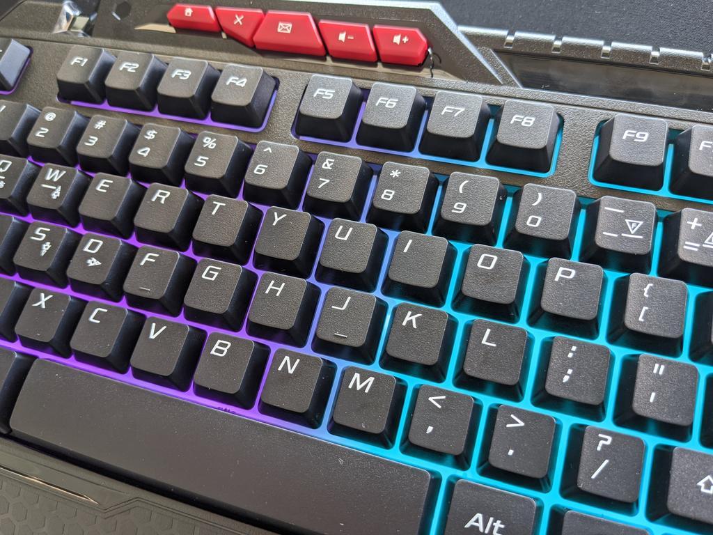 The Anko Gaming Keyboard falls a bit short.