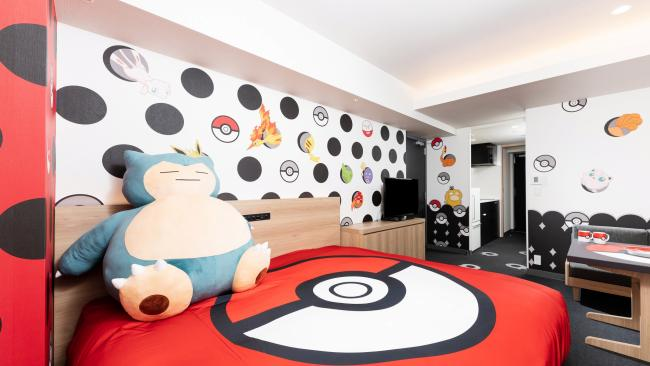 11/20Pokemon Room, Apartment Hotel Mimaru, Kyoto, Japan Pack your Pokedex, trainers. A world of Pokemon awaits in this room – including a giant stuffed Snorlax, walls covered in Pokemon and, in the kitchen, Poke Ball dishes. Guests also receive a souvenir gift with every stay.