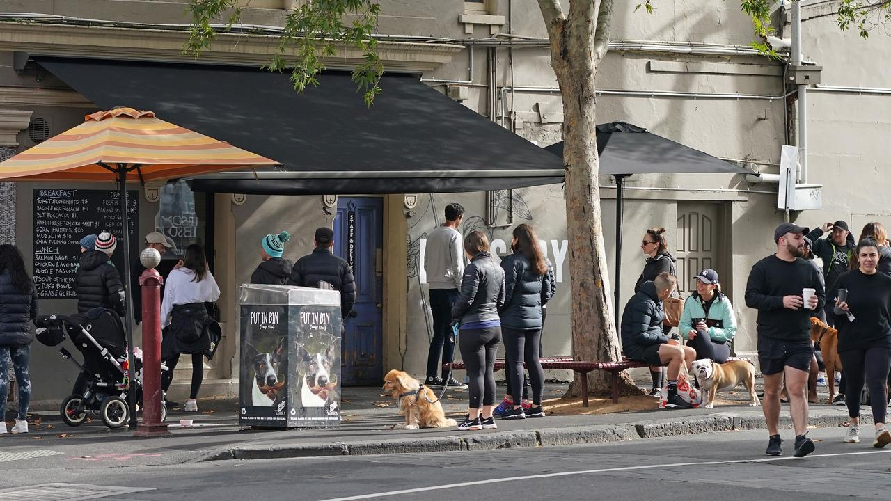 Melbourne residents will finally be able to sit down and enjoy a coffee in their favourite cafe from June 1. Picture: Scott Barbour/AAP