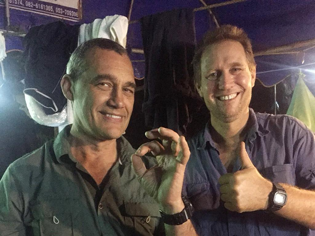 Australian doctor Richard Harris (right), along with his dive partner Craig Challen. Picture: AAP