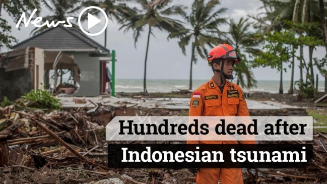 Hundreds dead after Indonesian Tsunami