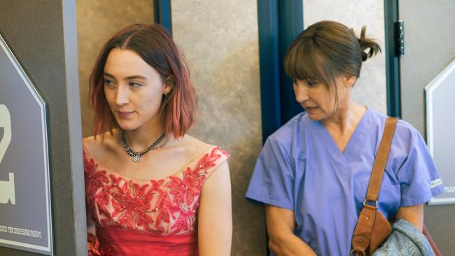 Saoirse Ronan and Laurie Metcalf are both Oscar nominees. Picture: A24/Merie Wallace